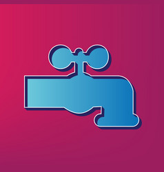 Water faucet sign blue 3d vector
