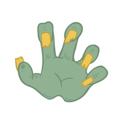 zombie hand on white background vector image vector image