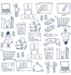 Business hand drrw doodles vector