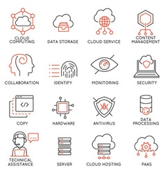 Cloud computing service icons -1 vector