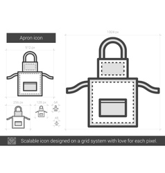 Apron line icon vector