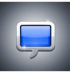 metallic speech bubble vector image