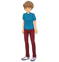 A tall boy standing vector