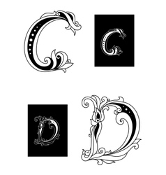 Title letters c and d vector