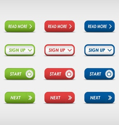Set of colored rectangular buttons vector image