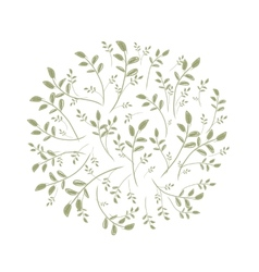 Spring leaf frame for your design vector