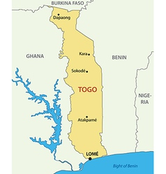 Togo - togolese republic - map vector