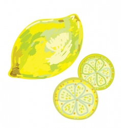 Lemon artistic vector