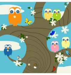 owls nest vector image