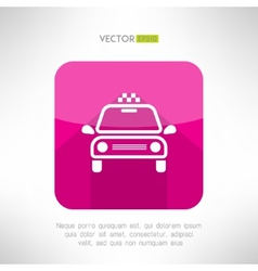 Taxi cab icon in moder clean and simple flat vector