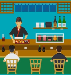 Sushi bar japanese restaurant vector