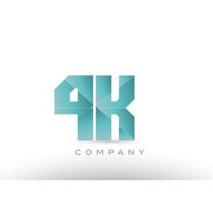 4k 4 k alphabet letter number combination green vector image