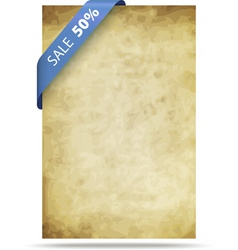 old paper background with strip vector image