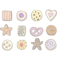 Set of fancy cookies vector