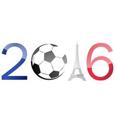 Euro 2016 soccer symbol vector image