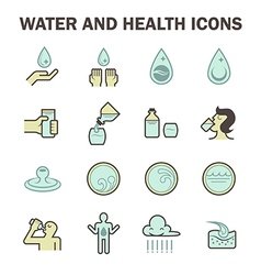 Water icon blue vector