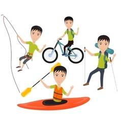 Outdoor sport and active lifestyles vector