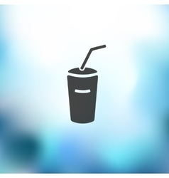Soda icon on blurred background vector