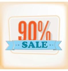 Discount labels 90 vector image