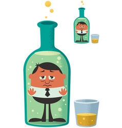 Alcoholism vector image vector image