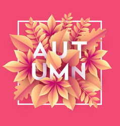 autumn banner background with paper fall leaves vector image vector image