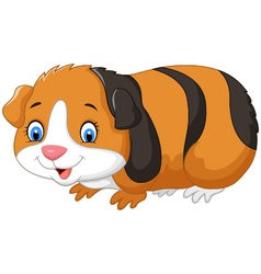 Cartoon cute guinea pig vector