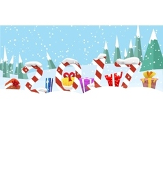 Christmas winter banners with presents vector