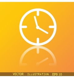 Clock time icon symbol Flat modern web design with vector image