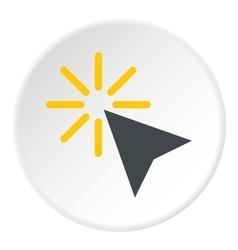 Cursor of mouse arrow clicks icon flat style vector