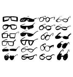 Doodle grunge glasses vector