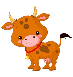 Farm animals cow vector