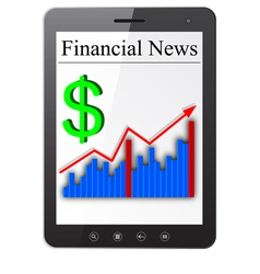 Financial News on Tablet PC vector image