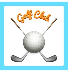 Golf icon with clubs and ball vector