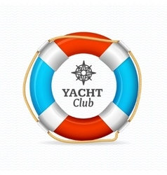 Life Buoy Yacht Club Corporate Sign Concept vector image