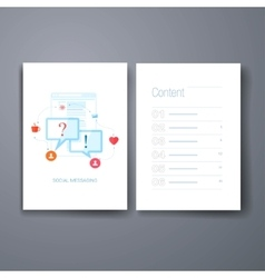 Modern online communication qa qustion and vector