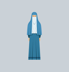 Muslim woman in traditional clothes vector