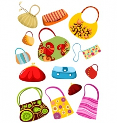 purse set vector image