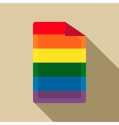 Sim card in rainbow colors icon flat style vector