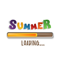 Summer loading bar isolated on white background vector