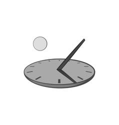 Sundial icon black monochrome style vector image
