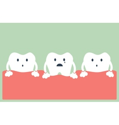 tooth periodontal disease vector image