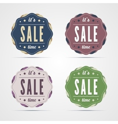 Vintage sale time badges vector