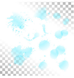 Watercolor transparent stain set of ink vector