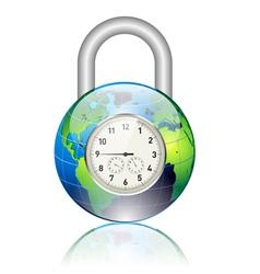 world locked vector image vector image
