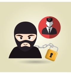 Pc hacker safe design vector