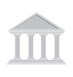 Silhouette with greek temple parthenon vector