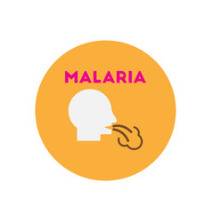 Icon on circle various symptoms of malar vector
