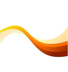 futuristic orange speed abstract swoosh wave vector image