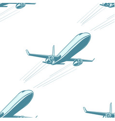 Aircraft aviation airplane air transport seamless vector