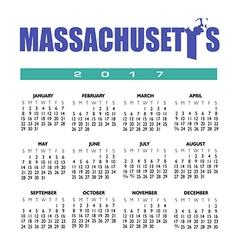 2017 Mass calendar vector image vector image